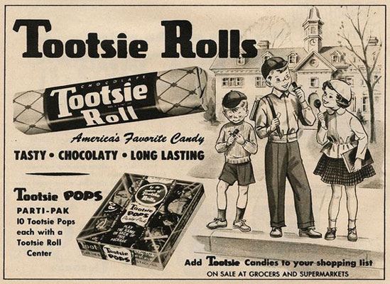 old style candy advertisement